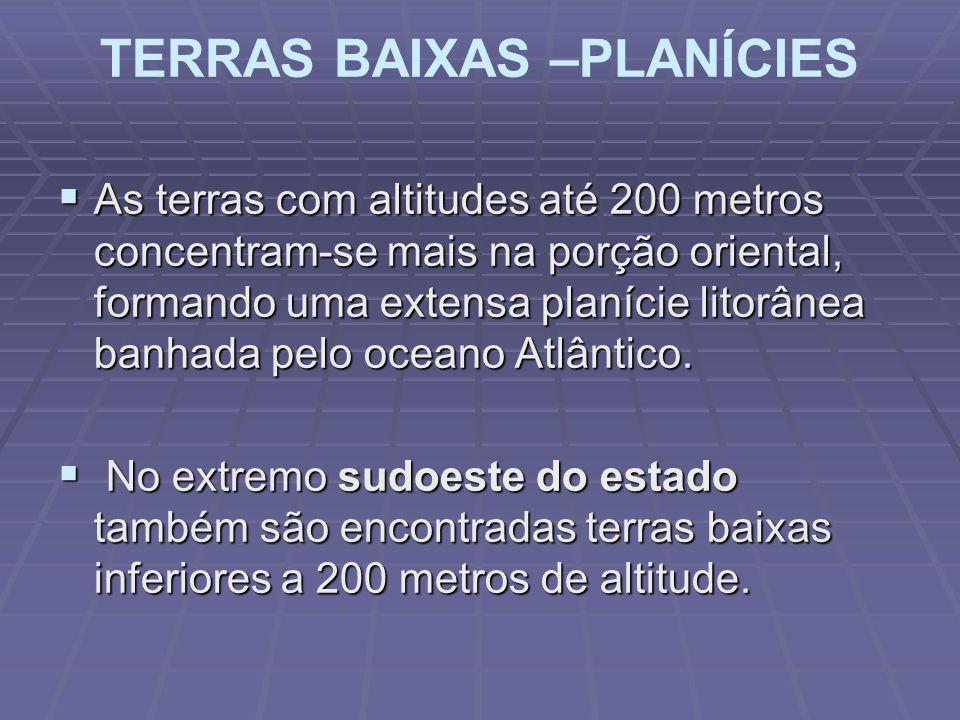 2. Relevo Litoral e Encosta.Planalto. No Planalto estão localizadas as maiores altitudes do relevo Catarinense ( Morro da Boa Vista – 1.827 metros ).