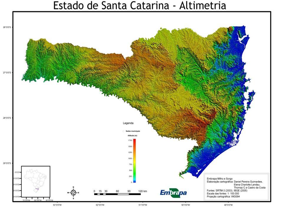 TERRAS BAIXAS –PLANÍCIES As terras com altitudes até 200 metros concentram-se mais na porção oriental, formando uma extensa planície litorânea banhada pelo oceano Atlântico.