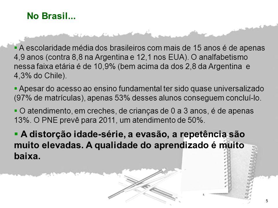 26 Apenas quando a educação for pauta prioritária no Brasil, os brasileiros terão condições plenas de realizar seu desenvolvimento econômico, social e político e serão, portanto, verdadeiramente independentes.