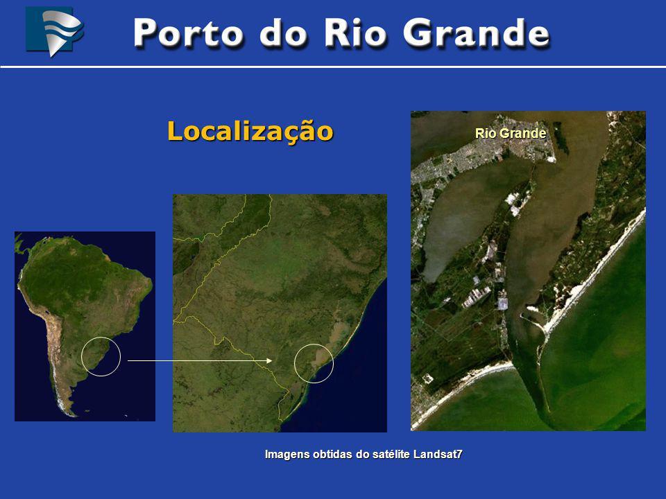 Brasil Localização Rio Grande Imagens obtidas do satélite Landsat7