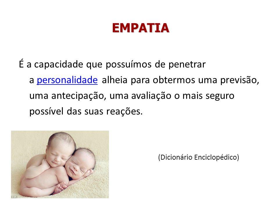 EMPATIA O radical da palavra empatia é pathos, termo grego com que designa a qualidade que excita a emoção, dentro da emoção.