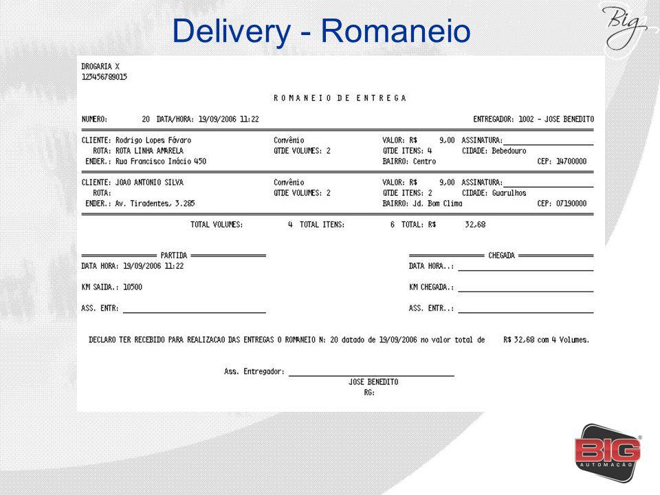 Delivery - Romaneio