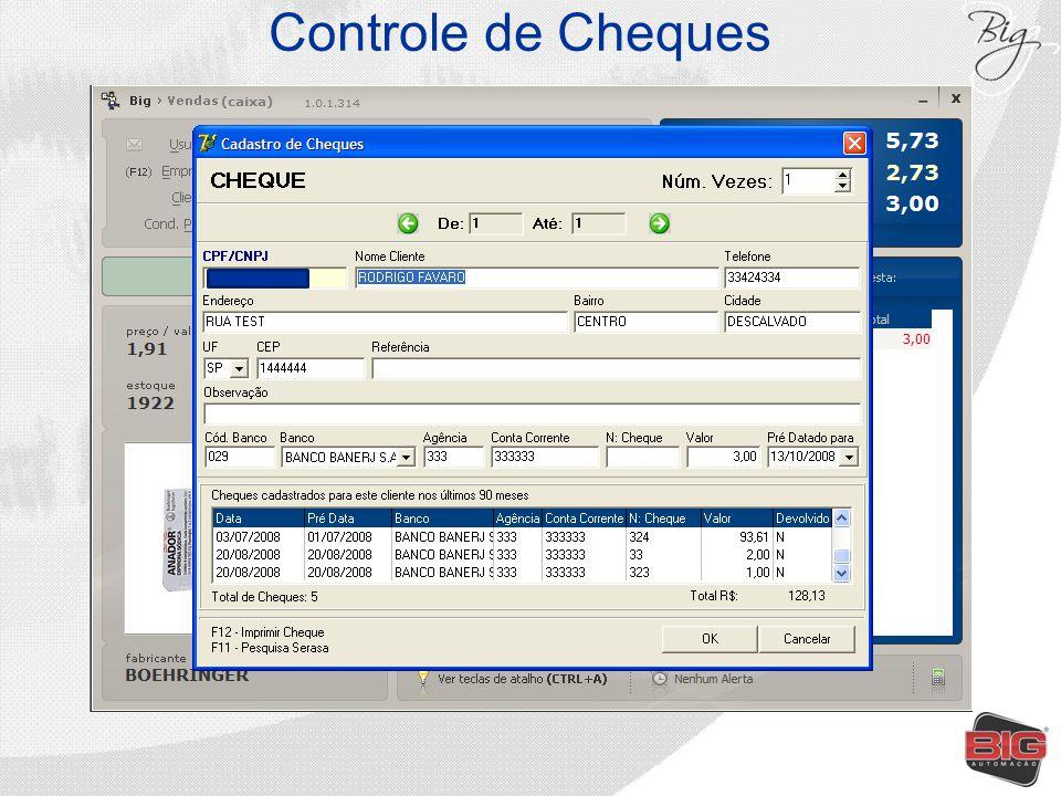 Controle de Cheques