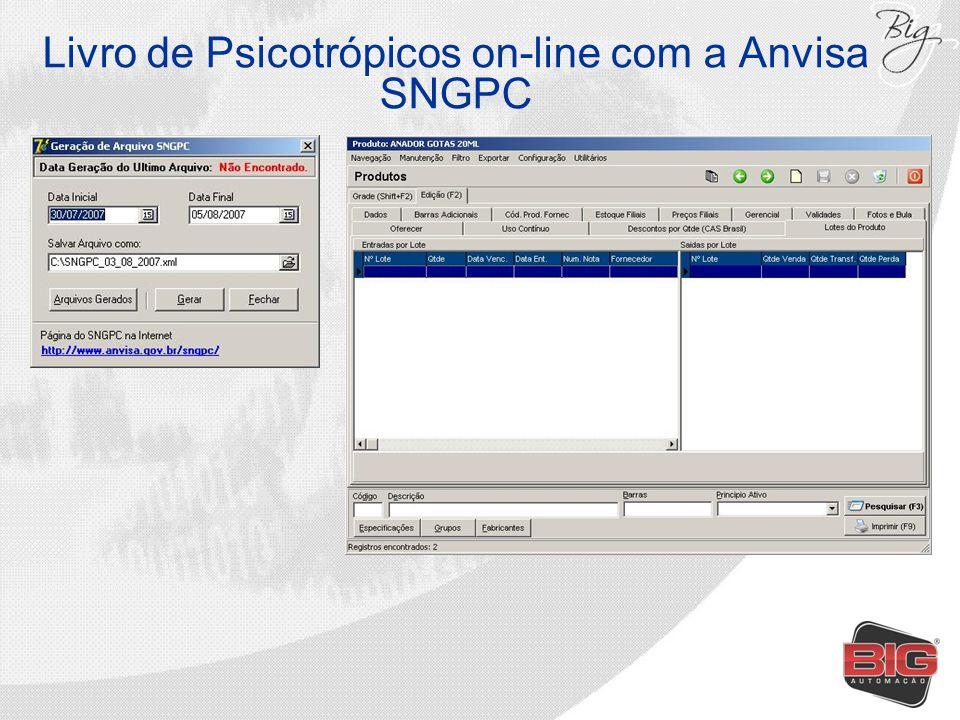 Livro de Psicotrópicos on-line com a Anvisa SNGPC