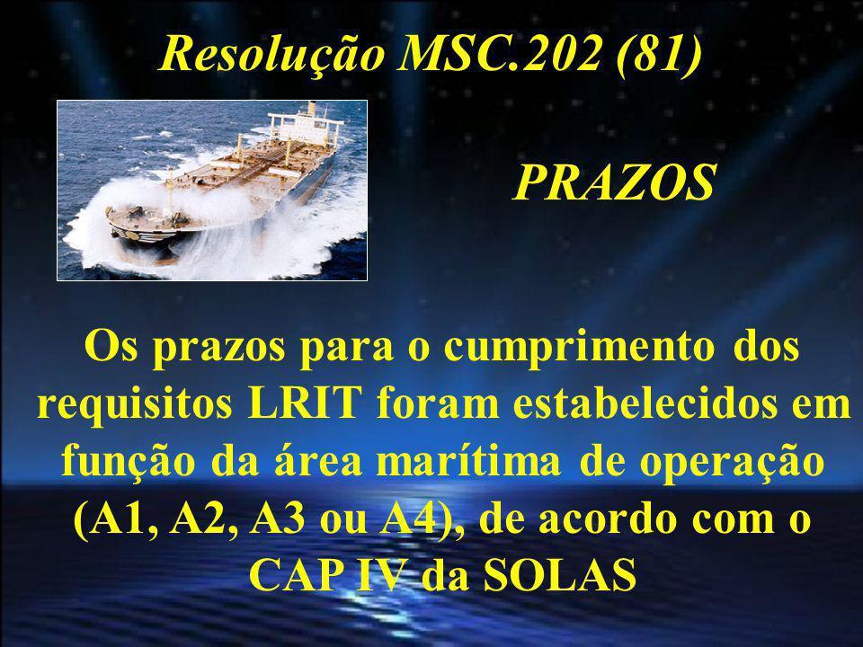 Resolução MSC.202 (81) PRAZOS Área marítima A-1 significa uma área dentro da cobertura radiotelefônica de pelo menos uma estação costeira de VHF que disponha de um alerta contínuo DSC.