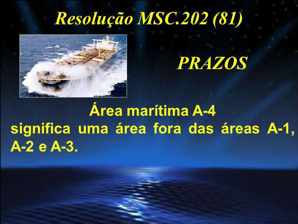 PRAZOS PARA Navios construídos ANTES 31 DEZ 2008