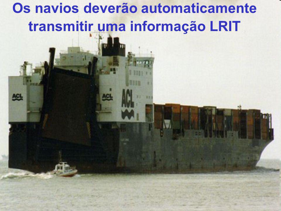 Composição da informação LRIT 1.Identificação do navio (N° IMO, MMSI e Nome); 2.