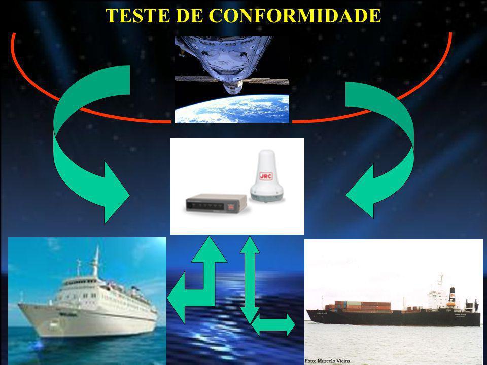 Appendix 1 Conformance Test Table 1 TESTE DE CONFORMIDADE Tem o propósito de demonstrar que o equipamento de bordo é conforme aos requisitos da regra V/19-1 da SOLAS e a seção 4 da Revised Performance Standards - MSC.263(84).