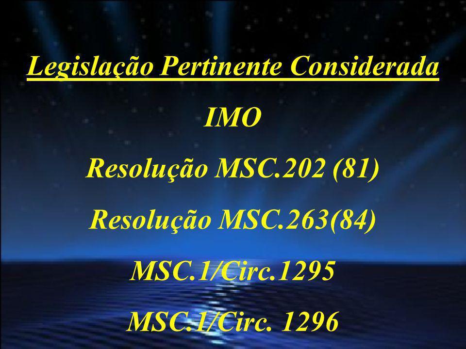 Resolução MSC.202 (81) Adotou emendas à Convenção SOLAS Inseriu a Regra 19-1 (Long-Range identification and tracking ships)