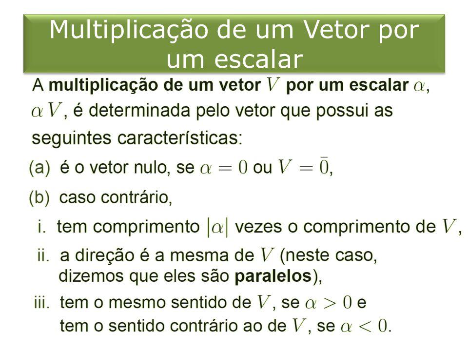 Multiplicação de um Vetor por um escalar