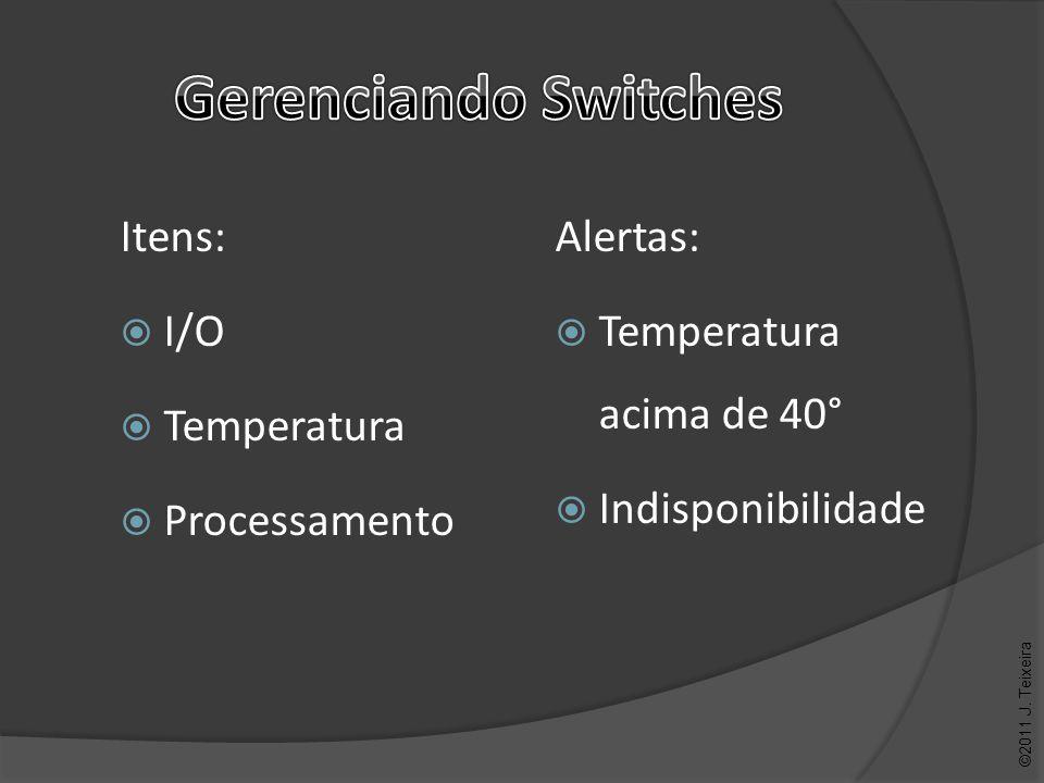 Alertas: Temperatura acima de 40° Indisponibilidade ©2011 J. Teixeira