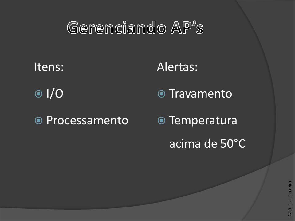 Alertas: Travamento Temperatura acima de 50°C ©2011 J. Teixeira
