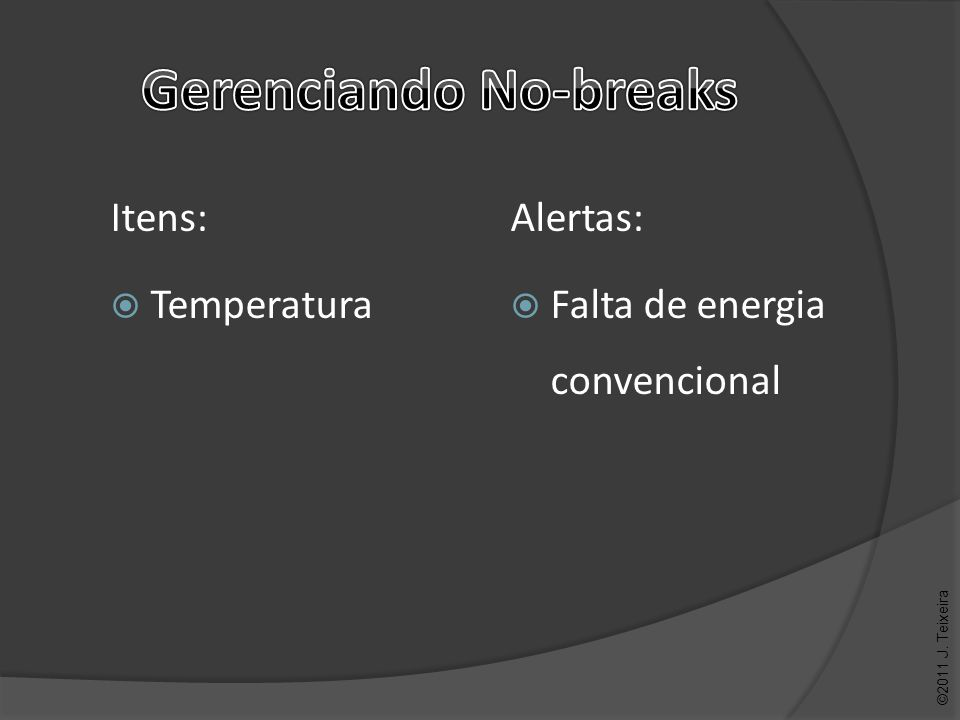 Alertas: Falta de energia convencional ©2011 J. Teixeira