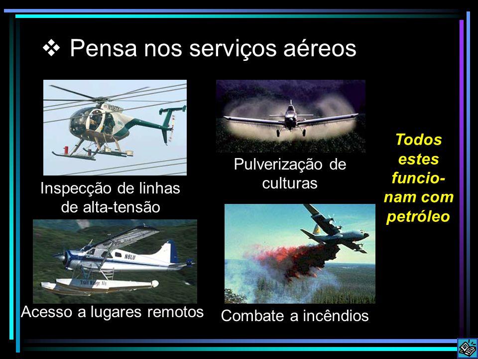 Pensa nos serviços aéreos Inspecção de linhas de alta-tensão Pulverização de culturas Acesso a lugares remotos Combate a incêndios Todos estes funcio-