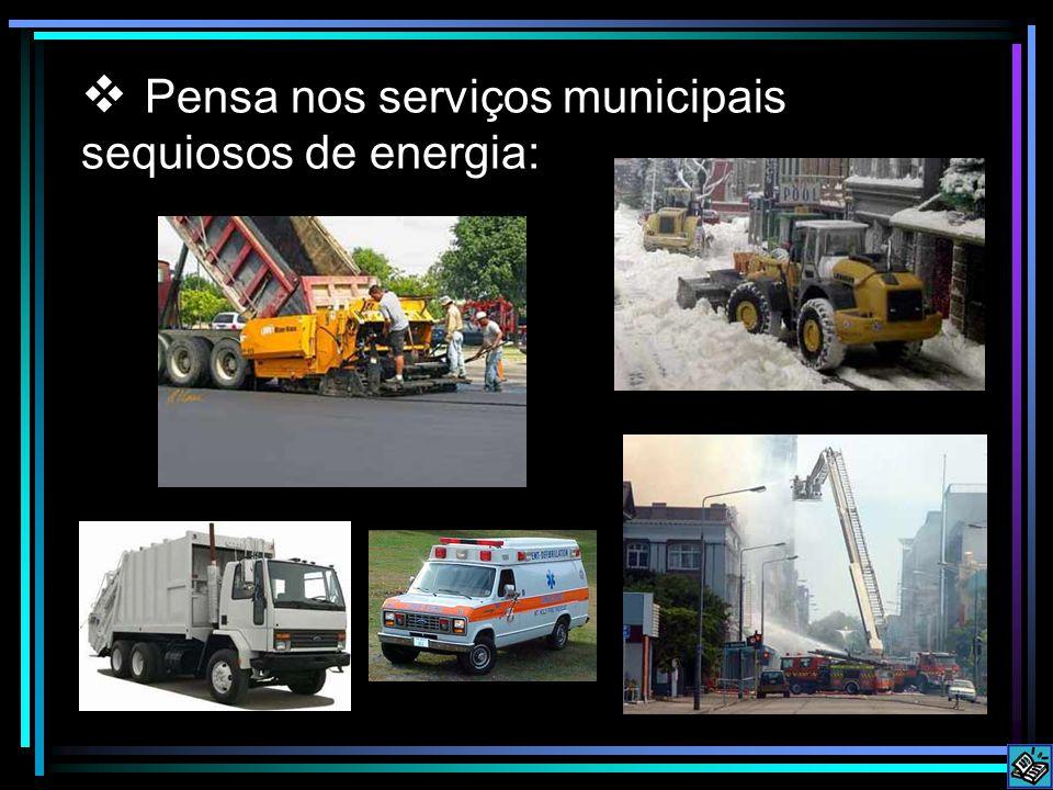 Pensa nos serviços municipais sequiosos de energia:
