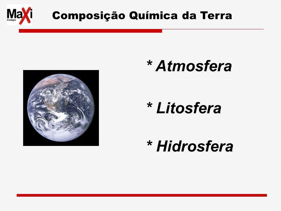 Composição Química da Terra * Litosfera * Hidrosfera * Atmosfera
