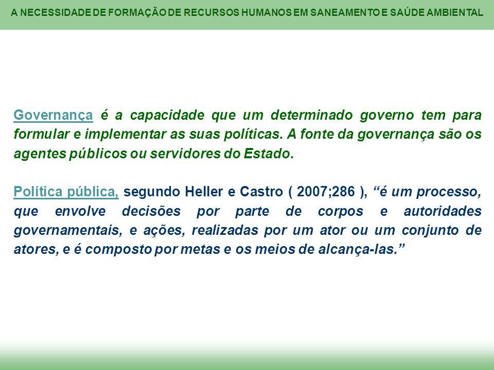 A NECESSIDADE DE FORMAÇÃO DE RECURSOS HUMANOS EM SANEAMENTO E SAÚDE AMBIENTAL OS PRINCÍPIOS da Política Nacional de Meio Ambiente – PNMA (A) ( Lei 6.938 / 1981, artigo 2º, dez incisos ): I.ação governamental na manutenção do equilíbrio ecológico, considerando o meio ambiente como um patrimônio público a ser necessariamente assegurado e protegido, tendo em vista o uso coletivo; II.
