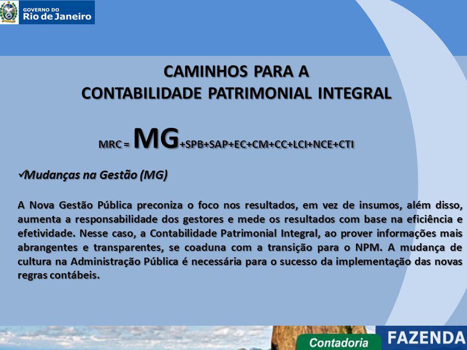 Mudanças na Gestão (MG) Mudanças na Gestão (MG) A Nova Gestão Pública preconiza o foco nos resultados, em vez de insumos, além disso, aumenta a respon