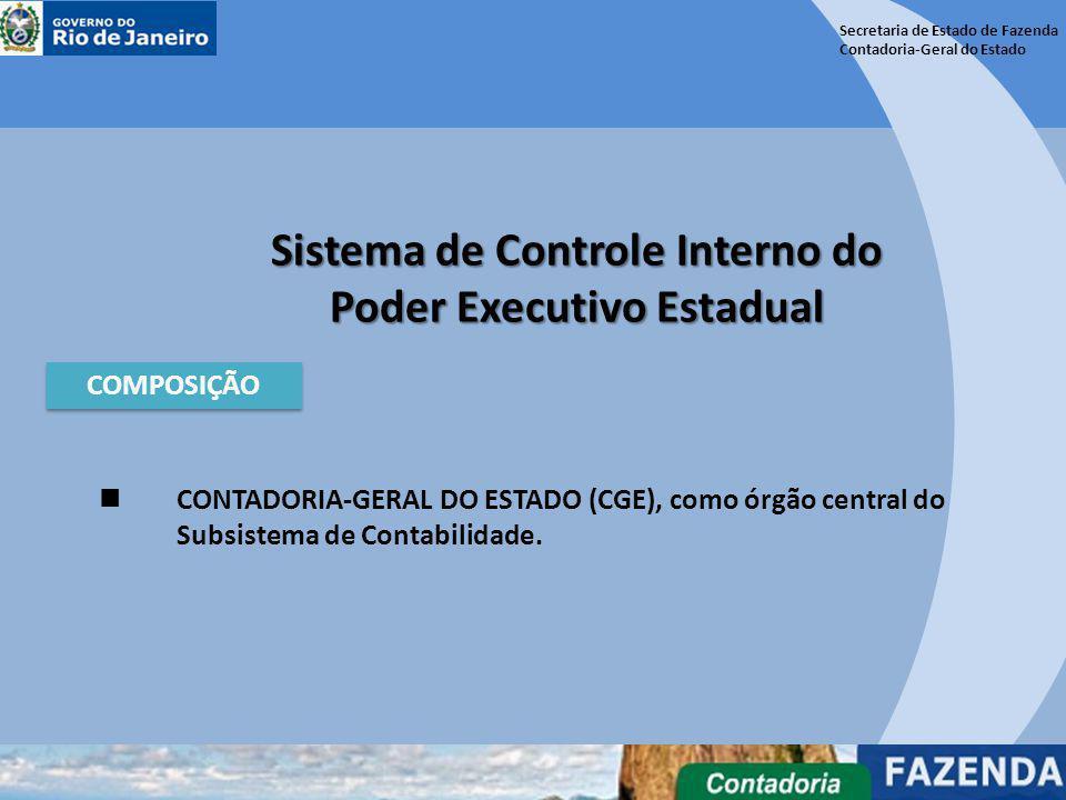 Secretaria de Estado de Fazenda Contadoria-Geral do Estado Sistema de Controle Interno do Poder Executivo Estadual COMPOSIÇÃO CONTADORIA-GERAL DO ESTA