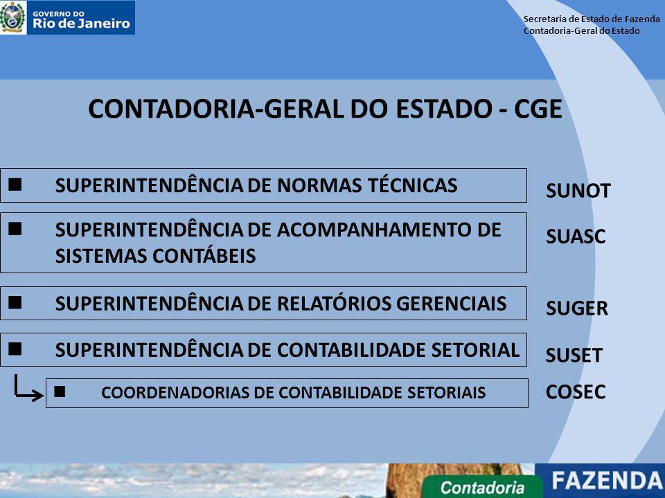Secretaria de Estado de Fazenda Contadoria-Geral do Estado CONTADORIA-GERAL DO ESTADO - CGE SUPERINTENDÊNCIA DE NORMAS TÉCNICAS SUPERINTENDÊNCIA DE AC