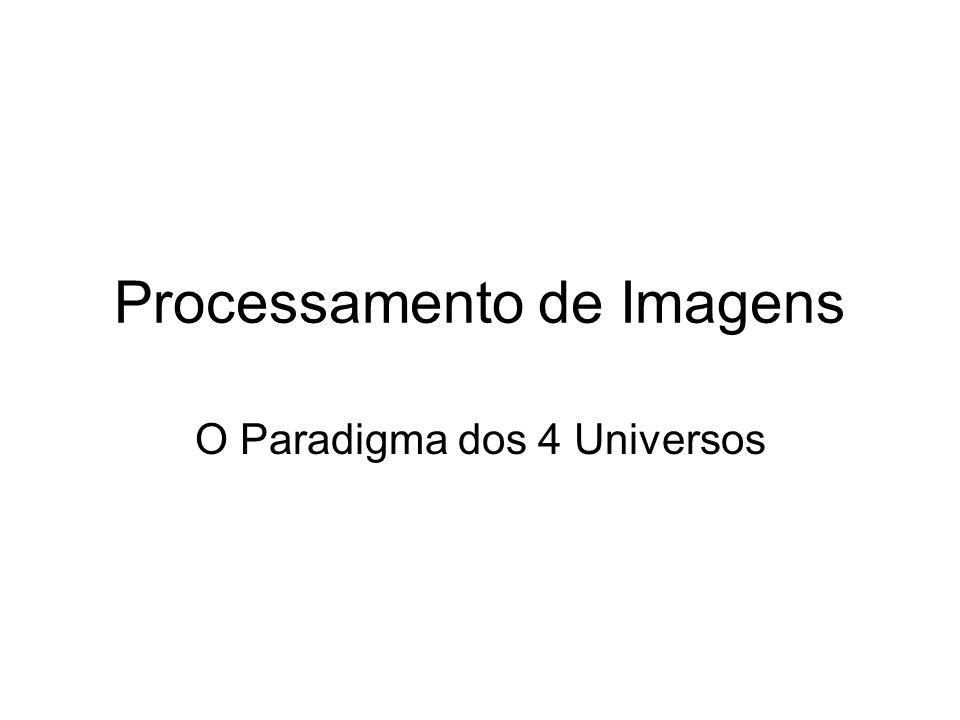 Processamento de Imagens O Paradigma dos 4 Universos