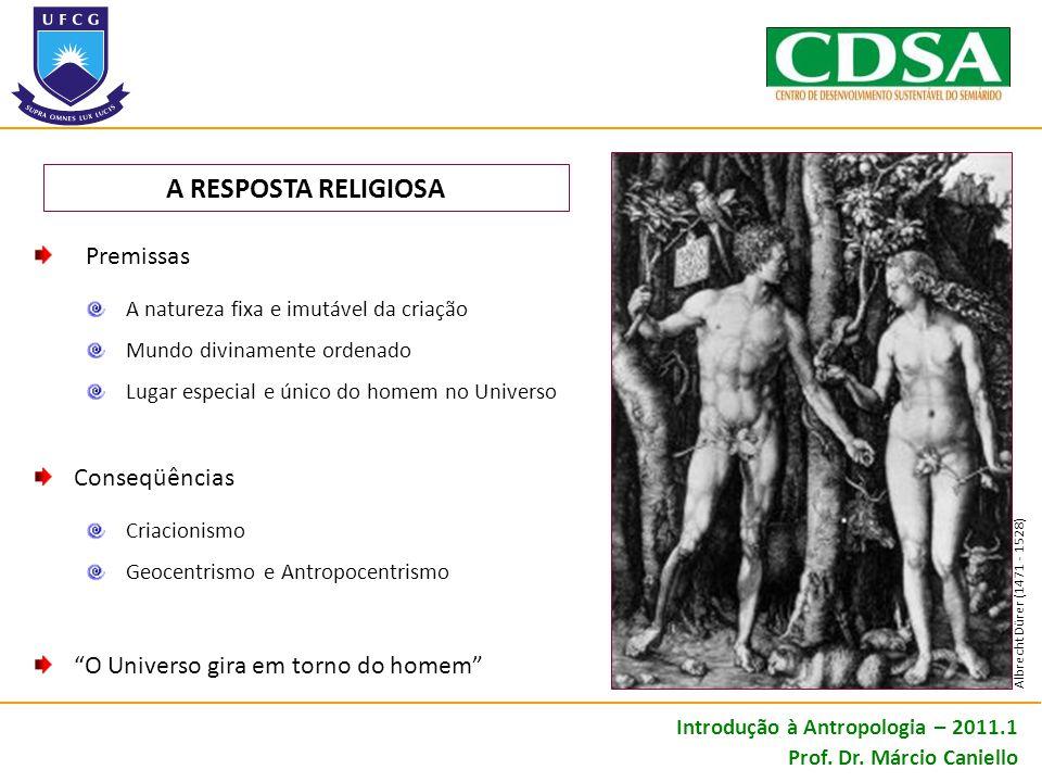 AS RESPOSTAS DA CIÊNCIA Introdução à Antropologia – 2011.1 Prof. Dr. Márcio Caniello