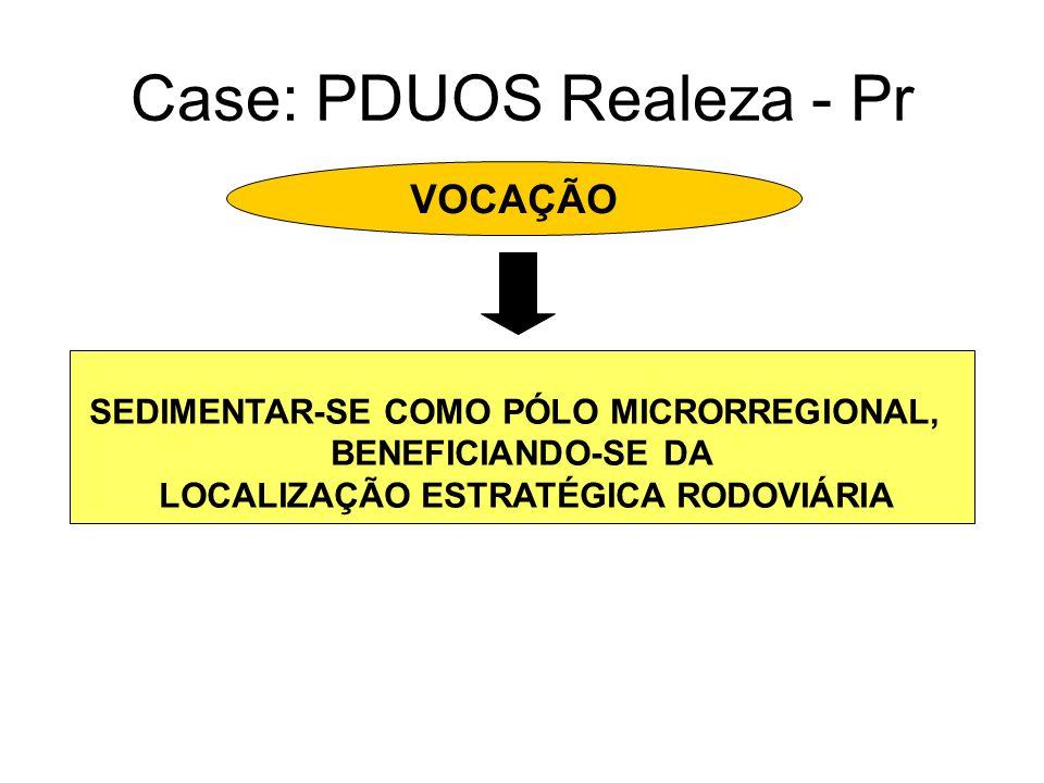 Case: PDUOS Realeza - Pr VOCAÇÃO SEDIMENTAR-SE COMO PÓLO MICRORREGIONAL, BENEFICIANDO-SE DA LOCALIZAÇÃO ESTRATÉGICA RODOVIÁRIA