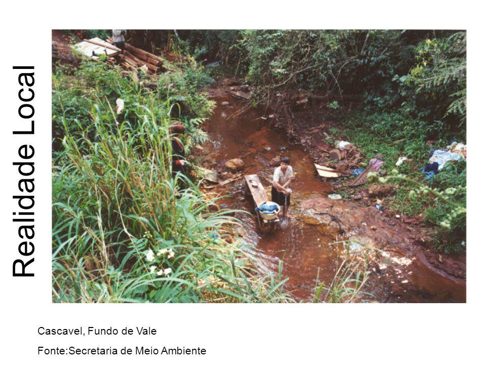 Realidade Local Cascavel, Fundo de Vale Fonte:Secretaria de Meio Ambiente