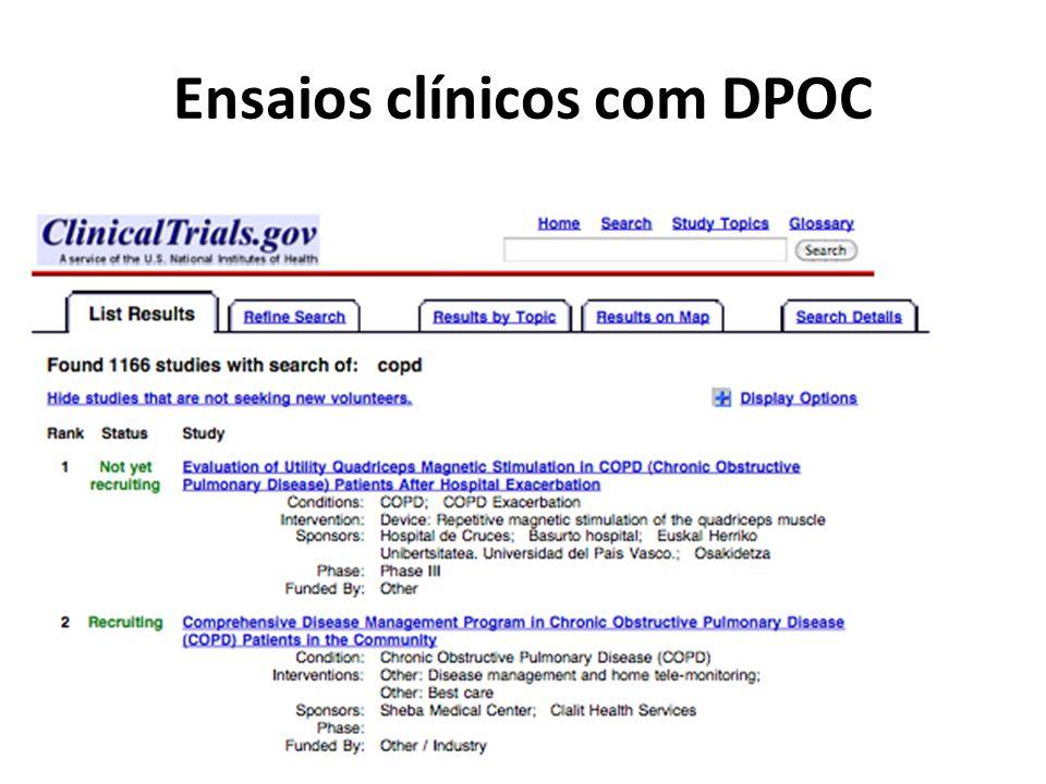 Ensaios clínicos com DPOC