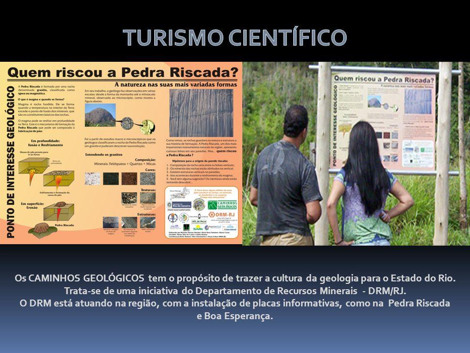 Os CAMINHOS GEOLÓGICOS tem o propósito de trazer a cultura da geologia para o Estado do Rio. Trata-se de uma iniciativa do Departamento de Recursos Mi