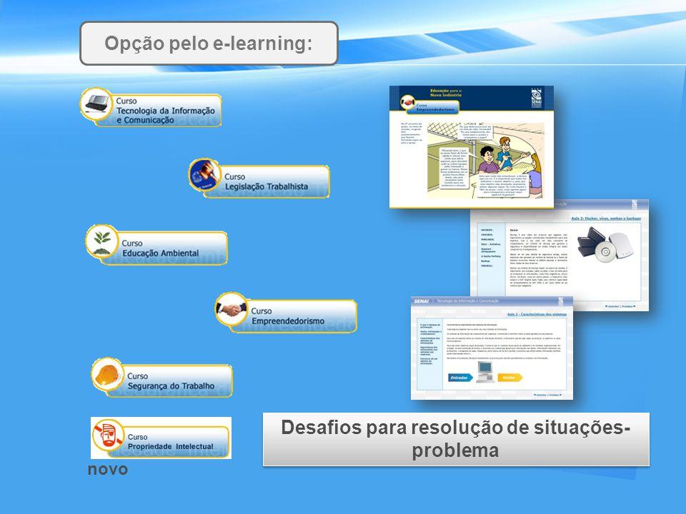 Opção pelo e-learning: Desafios para resolução de situações- problema novo
