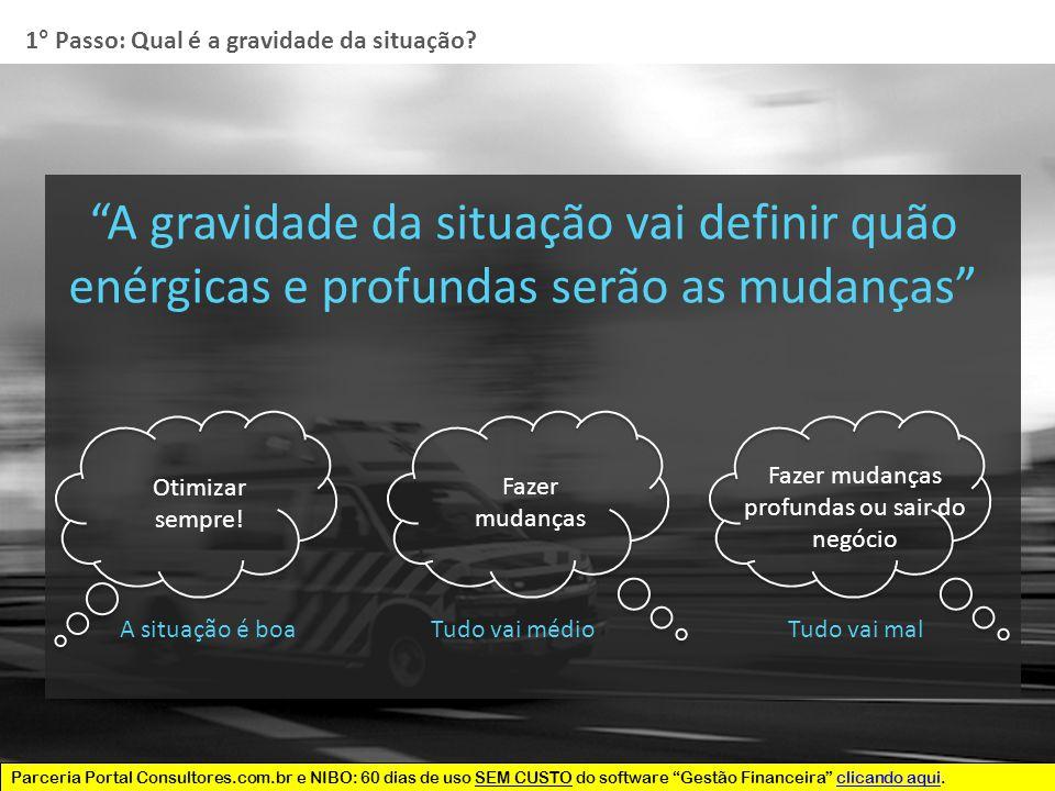 Parceria Portal Consultores.com.br e NIBO: 60 dias de uso SEM CUSTO do software Gestão Financeira clicando aqui.clicando aqui 1° Passo: Qual é a gravidade da situação.