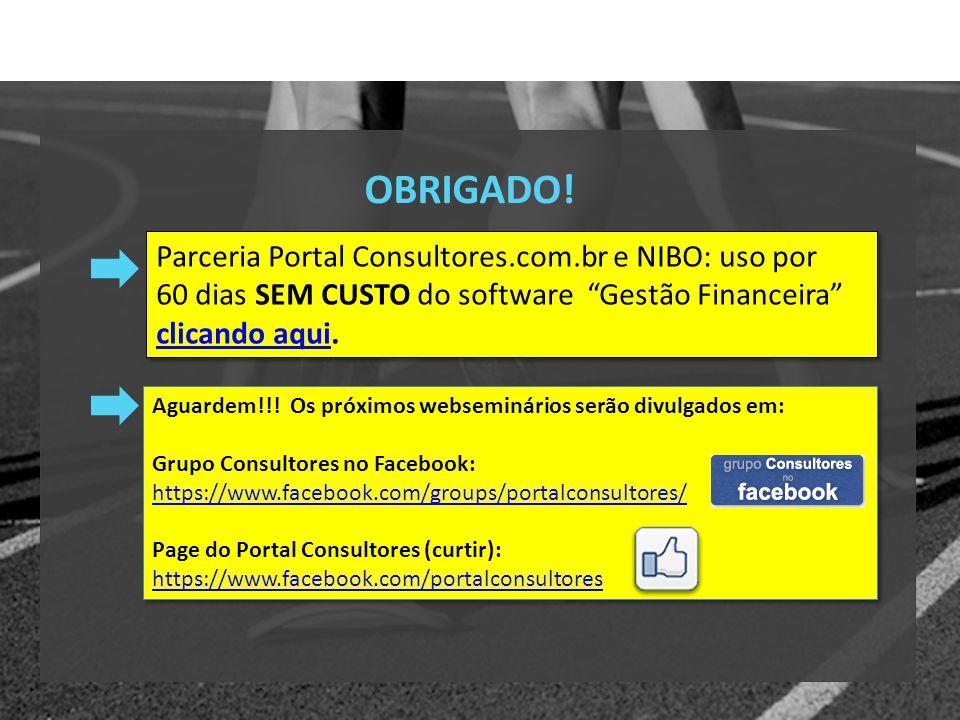 Parceria Portal Consultores.com.br e NIBO: 60 dias de uso SEM CUSTO do software Gestão Financeira clicando aqui.clicando aqui OBRIGADO.