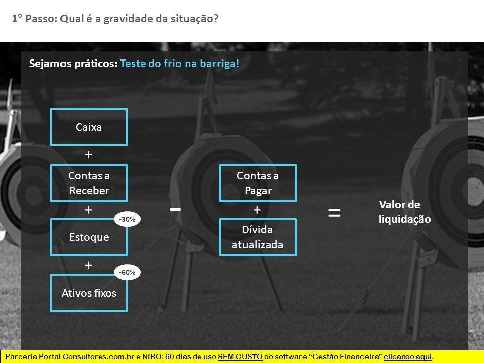 Parceria Portal Consultores.com.br e NIBO: 60 dias de uso SEM CUSTO do software Gestão Financeira clicando aqui.clicando aqui 5 Sejamos práticos: Teste do frio na barriga.