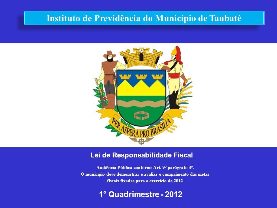 Lei de Responsabilidade Fiscal 1° Quadrimestre - 2012 Audiência Pública conforme Art. 9° parágrafo 4°. O município deve demonstrar e avaliar o cumprim