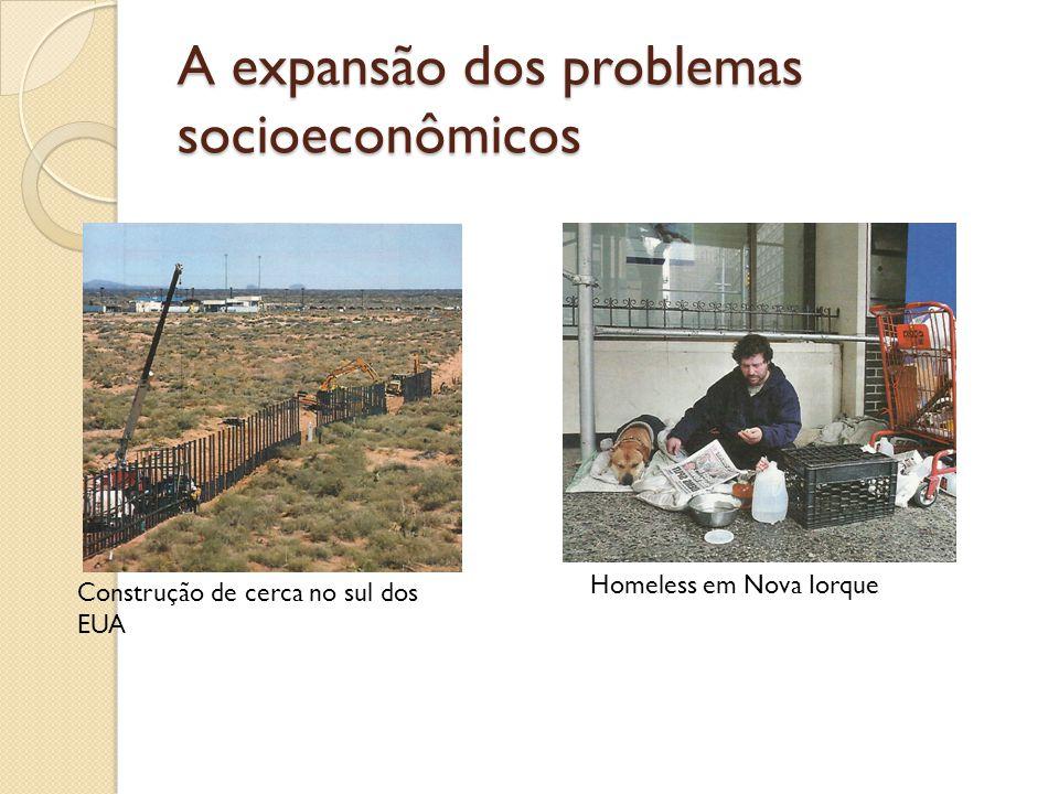 A expansão dos problemas socioeconômicos Construção de cerca no sul dos EUA Homeless em Nova Iorque