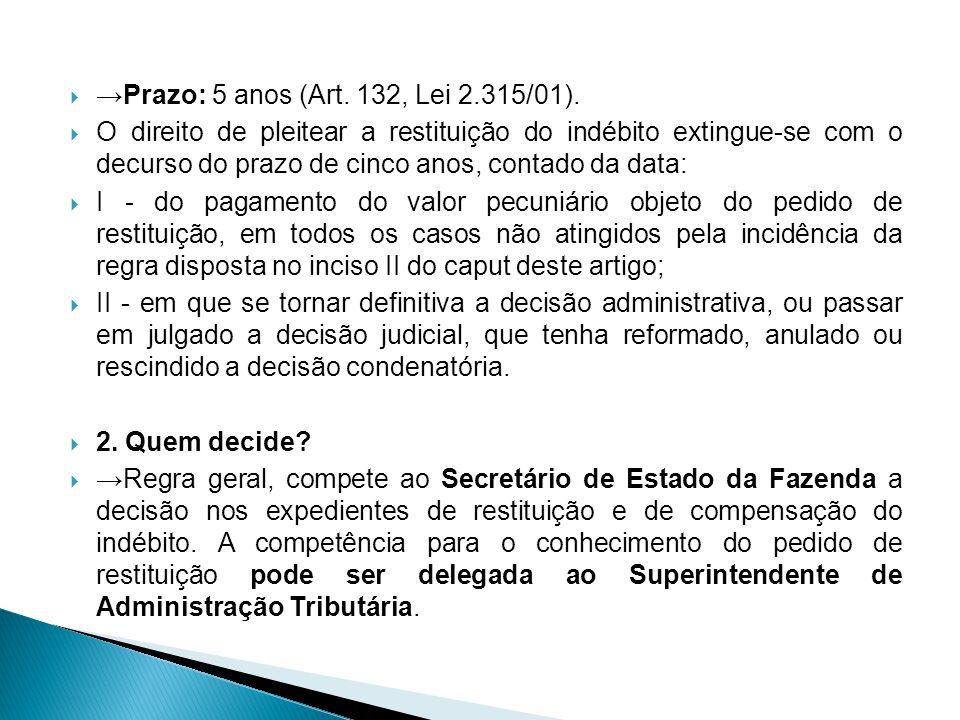 No caso do ICMS, essa delegação pode se dar sob condição de posterior homologação pelo Secretário de Estado de Fazenda.