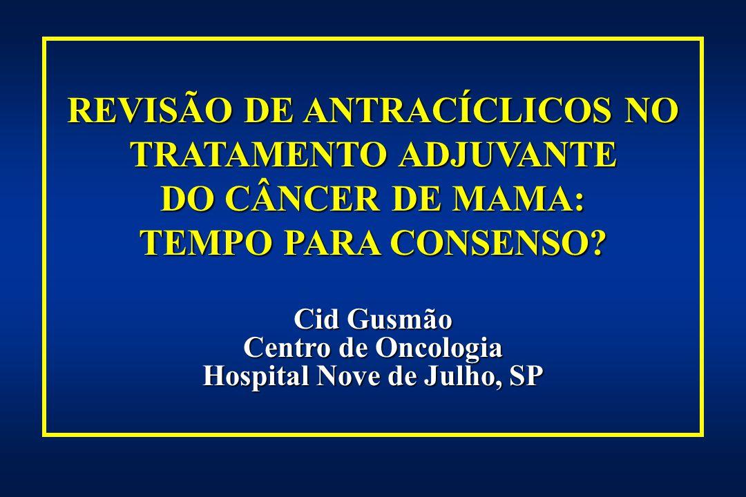 HER-2 E ANTRACICLINA (A) VS REGIMES NÃO A- DE QUIMIOTERAPIA ADJUVANTE Grupo PopulaçãoTratmento No.