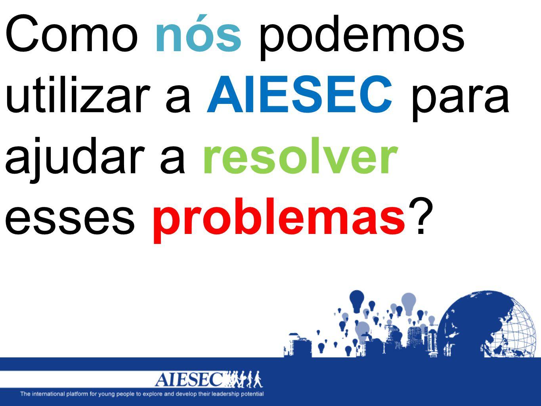 Como nós podemos utilizar a AIESEC para ajudar a resolver esses problemas?