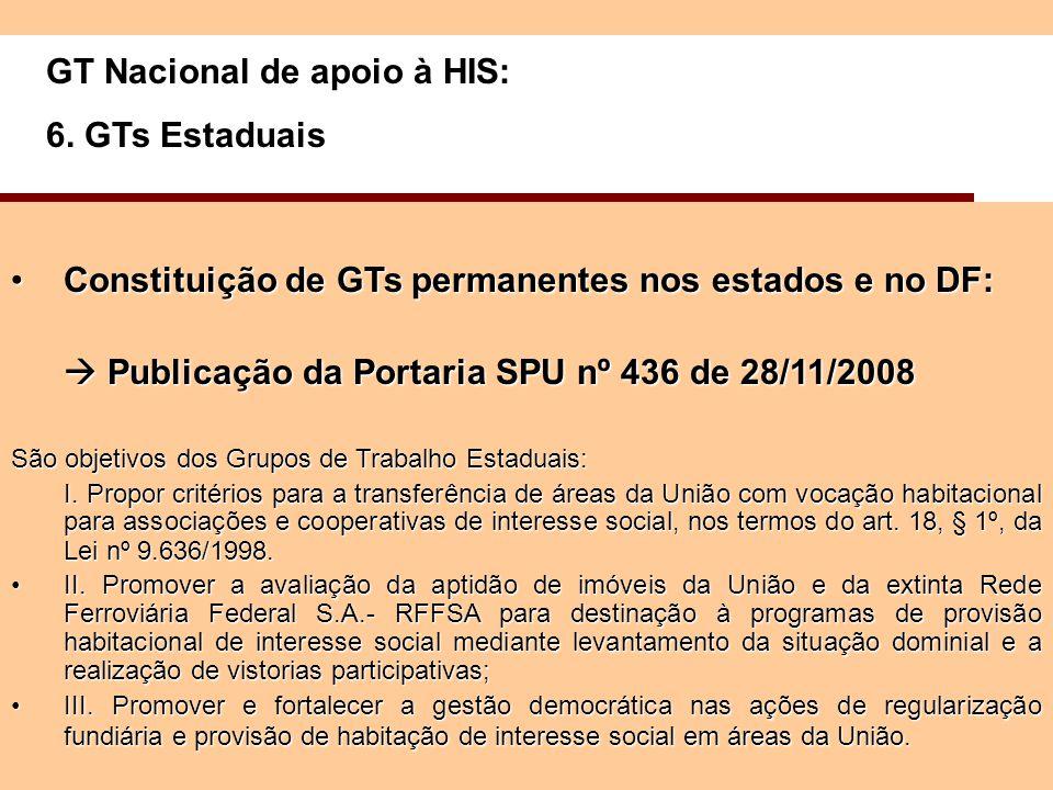 GT Nacional de apoio à HIS: 6.