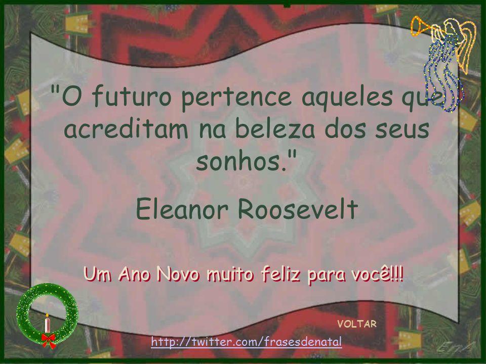 Em vão buscaremos ao longe a felicidade, se não a cultivarmos dentro de nós mesmos. Rousseau VOLTAR Um Ano Novo muito feliz para você!!.