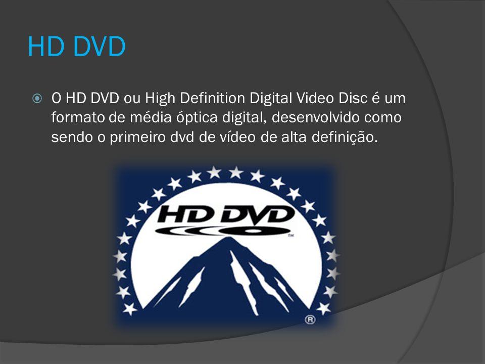 HD DVD O HD DVD ou High Definition Digital Video Disc é um formato de média óptica digital, desenvolvido como sendo o primeiro dvd de vídeo de alta de