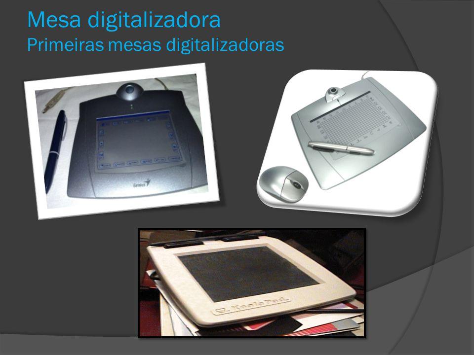 Mesa digitalizadora Primeiras mesas digitalizadoras
