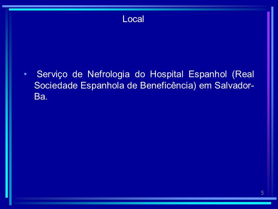 5 Local Serviço de Nefrologia do Hospital Espanhol (Real Sociedade Espanhola de Beneficência) em Salvador- Ba.