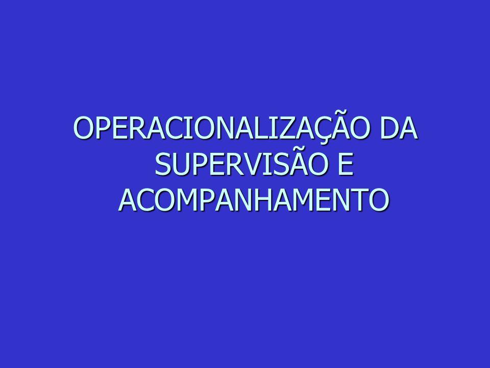OPERACIONALIZAÇÃO DA SUPERVISÃO E ACOMPANHAMENTO