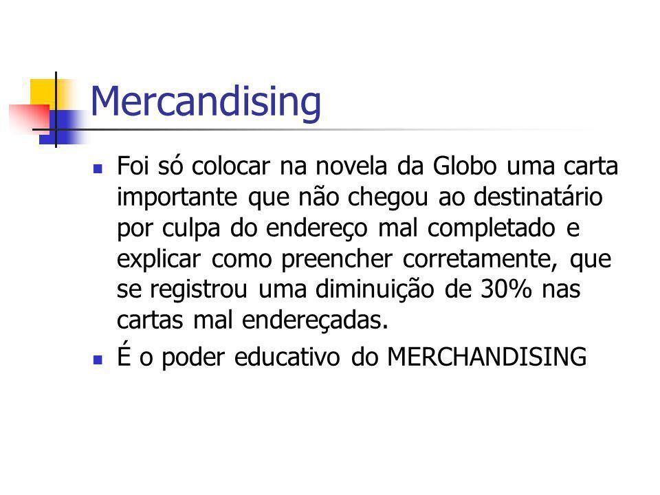 Mercandising Foi só colocar na novela da Globo uma carta importante que não chegou ao destinatário por culpa do endereço mal completado e explicar com
