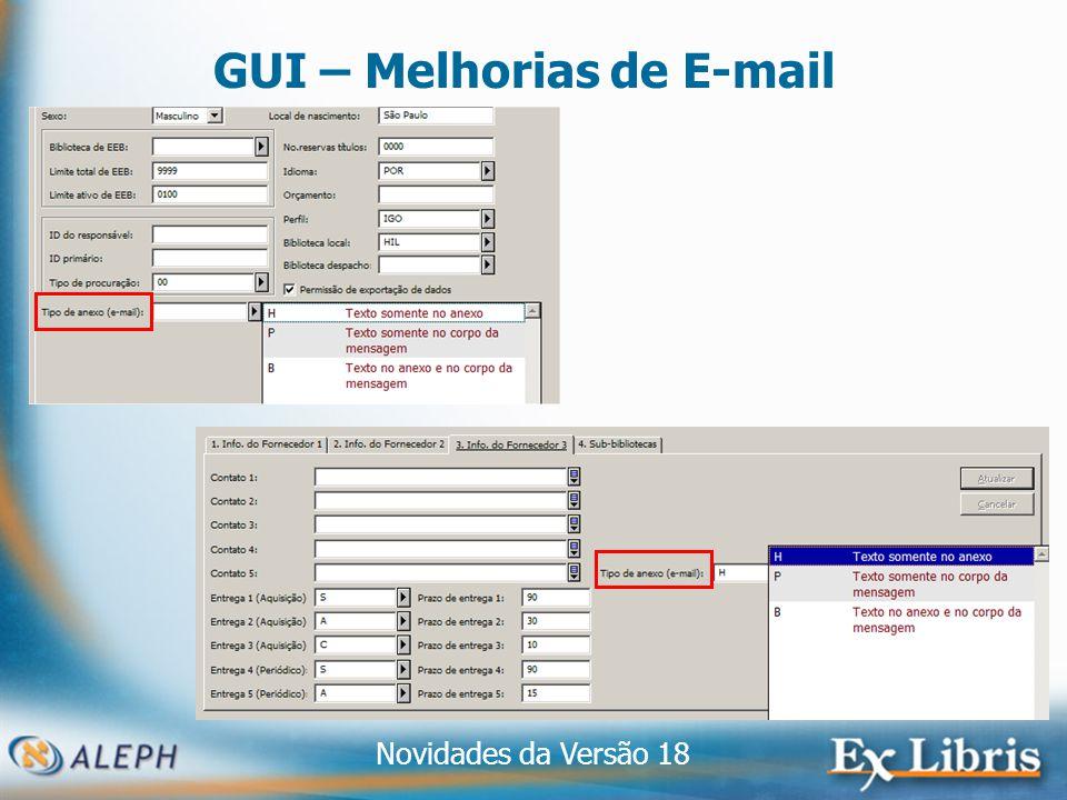 Novidades da Versão 18 12 GUI – Melhorias de E-mail