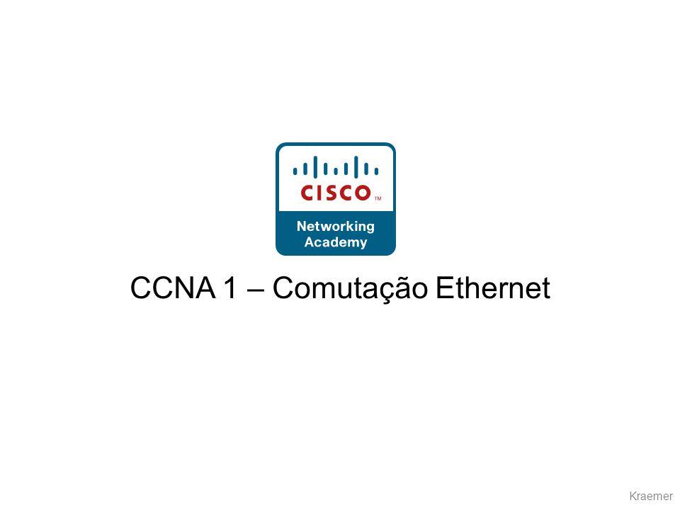 Kraemer Comutação Ethernet Introdução a comutação Protocolo STP Domínios de colisão Domínios de broadcast