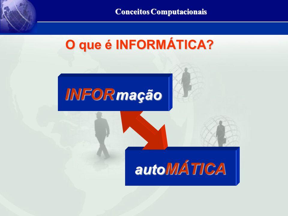 Conceitos Computacionais auto MÁTICA INFOR mação O que é INFORMÁTICA?