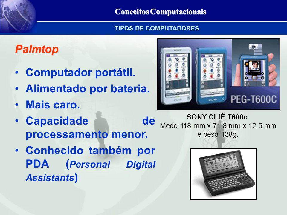 Conceitos Computacionais Palmtop Computador portátil.